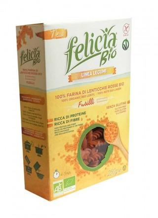 Felicia bio fusilli lenticchie rosse